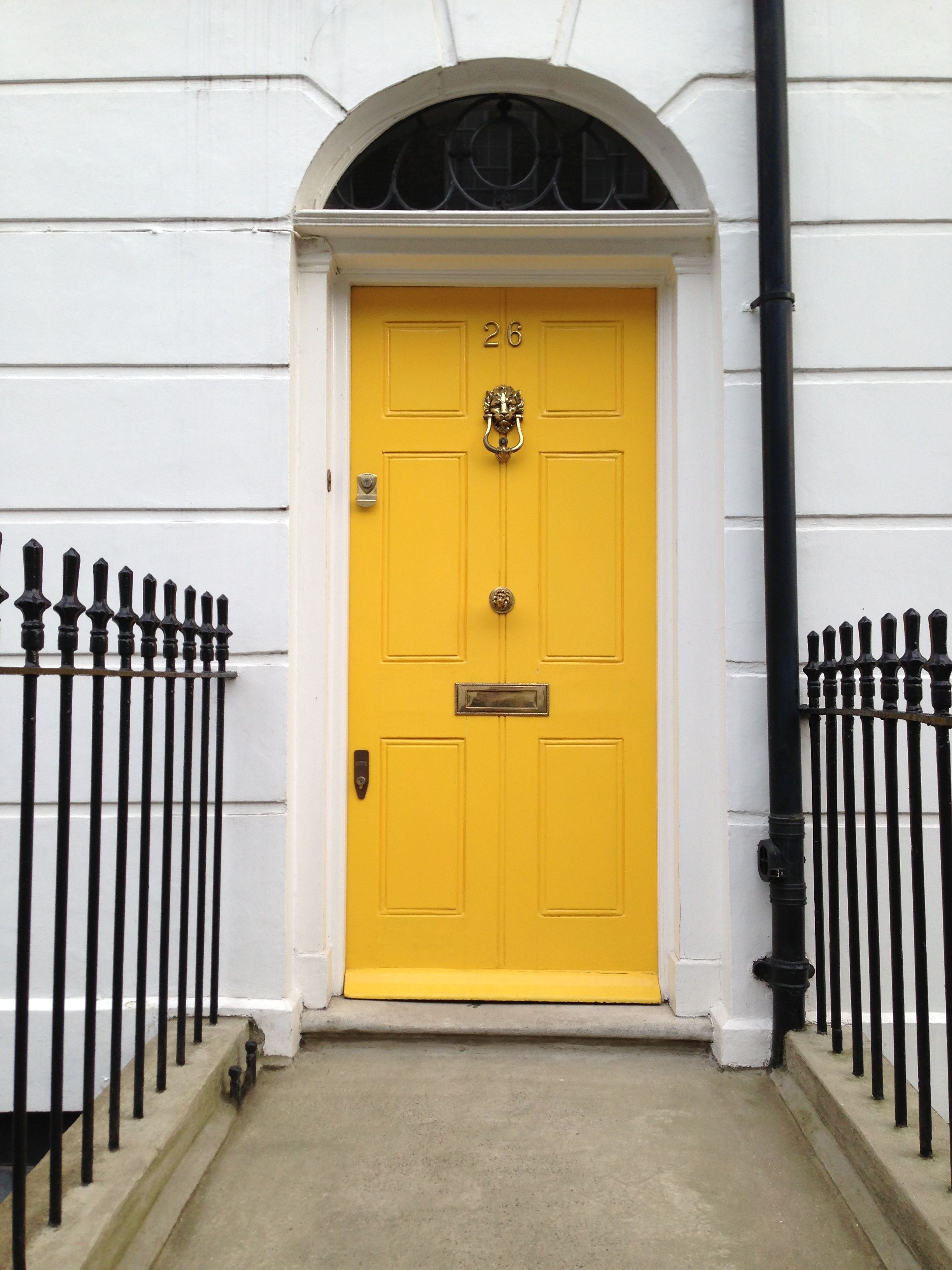 Oh it's a yellow door!