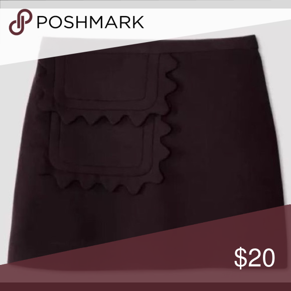 """1082b94aac Victoria Beckham for Target Black Mini Skirt Scallop pocket detail - 18""""  long - new w/out tags Victoria Beckham for Target Skirts Mini"""