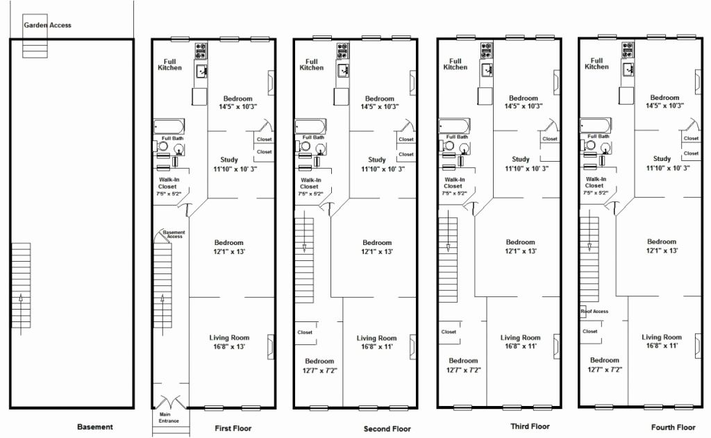 Brownstone Floor Plans Inspirational Entrancing Brownstone Row House Floor Plans At Free Garden View House Floor Plans Row House Floor Plans