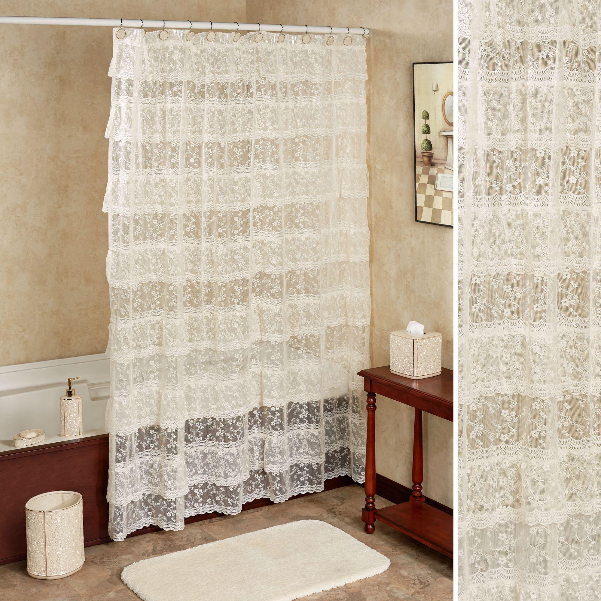 Bridal Lace Shower Curtain 70 x 72