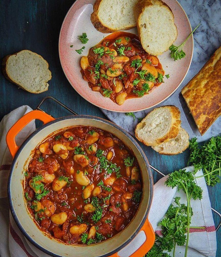 Let's Cook Vegan — Greek Gigantis Plaki (Baked Butter Beans) by...