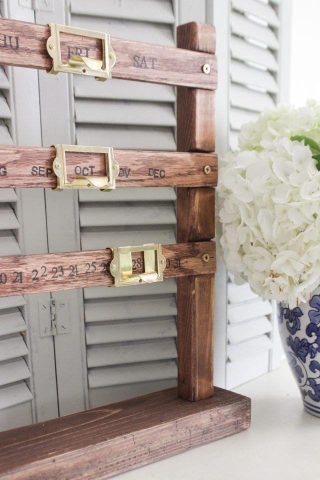 Home & Garden Humble Vintage Style Wood Perpetual Calendar Diy Calendar Crafts Home Office School Desk Decoration Gifts