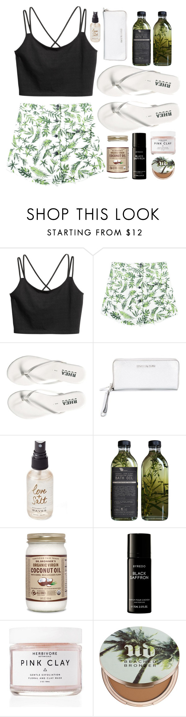 """Untitled #362"" by designer-mae ❤ liked on Polyvore featuring Chicnova Fashion, MICHAEL Michael Kors, Olivine, AMBRE, Byredo, Herbivore, Urban Decay and DesignerMaeTaglist"