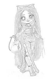 Coloring Pages L O L Surprise O M G Dolls Coloring Pages Free And Downloadable In 2020 Coloring Pages Dolls Color