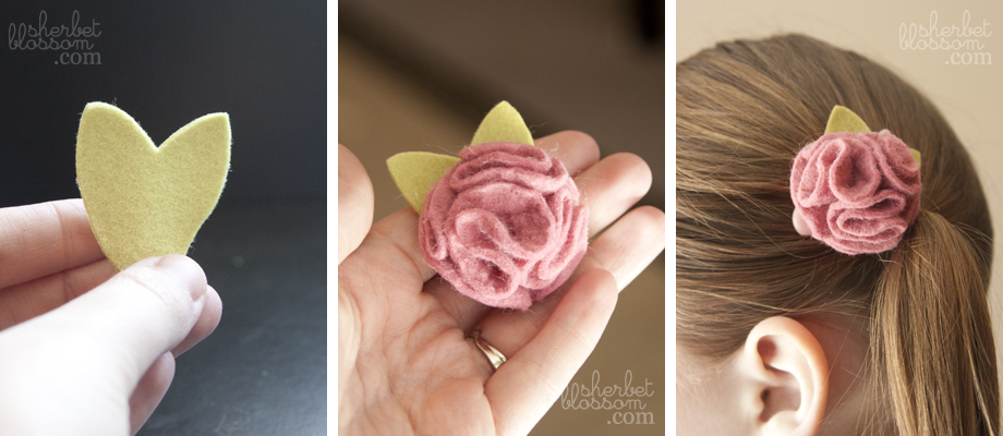 Found these cute DIY hair bows on this blog.