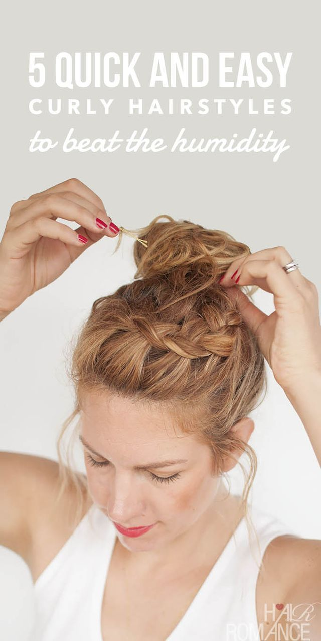5 Quick And Easy Curly Hairstyles To Beat The Humidity Hair Romance Curly Hair Styles Easy Curly Hair Styles Curly Hair Styles Naturally
