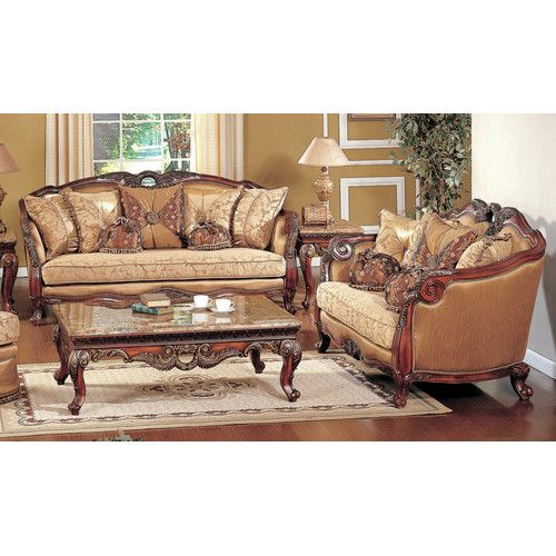 Traditional Sofas Living Room Furniture: Amia 2 Piece Living Room Set