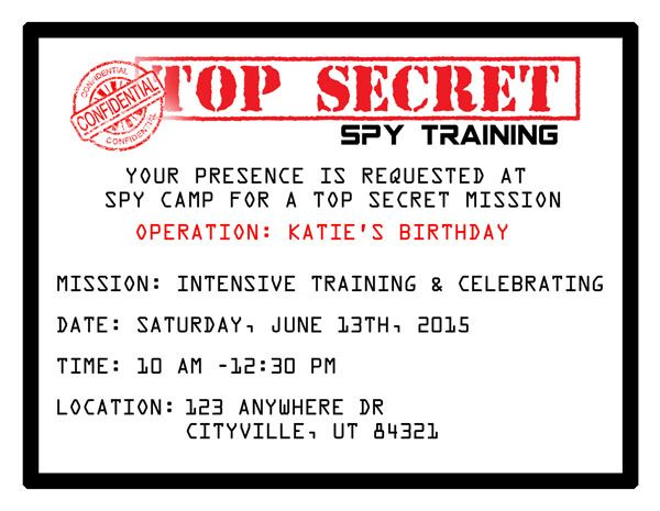 photo regarding Spy Party Invitations Printable Free identify Printable Spy Get together Invites Birthday Spy occasion, Spy