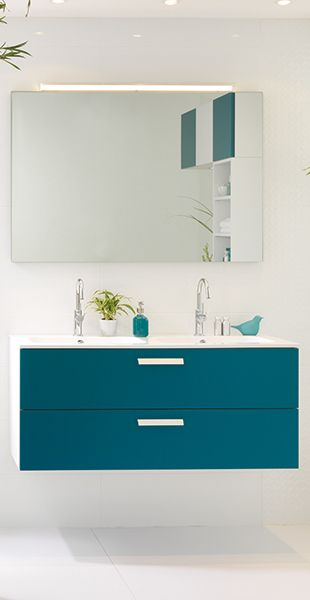 Blue bathroom cabinet with drawers Vanity and vanity legs