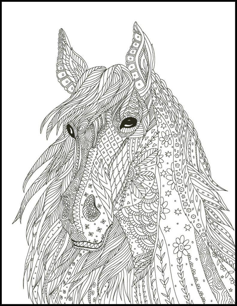 ausmalbilder pferde für erwachsene  ausmalbilder mandala