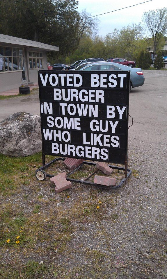 That must be one good burger.