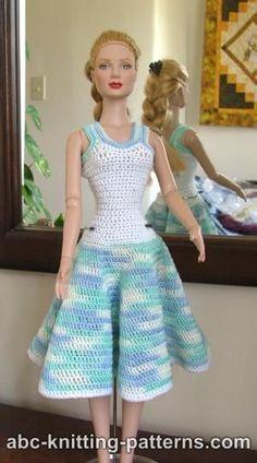 Free doll dress crochet pattern free doll dress crochet pattern dt1010fo