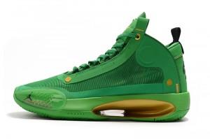Nike Air Jordan 34 Green Men's Basketball Shoes   Red basketball ...