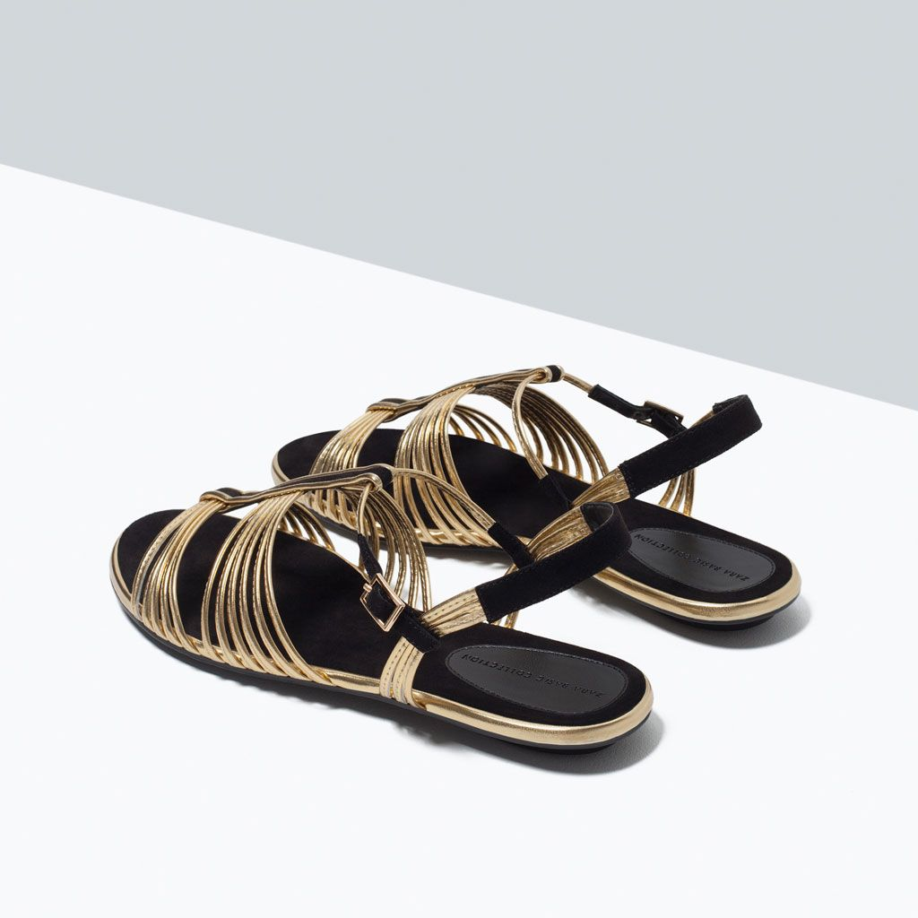 Zara Woman Flat Strappy Sandal Must Have Flats
