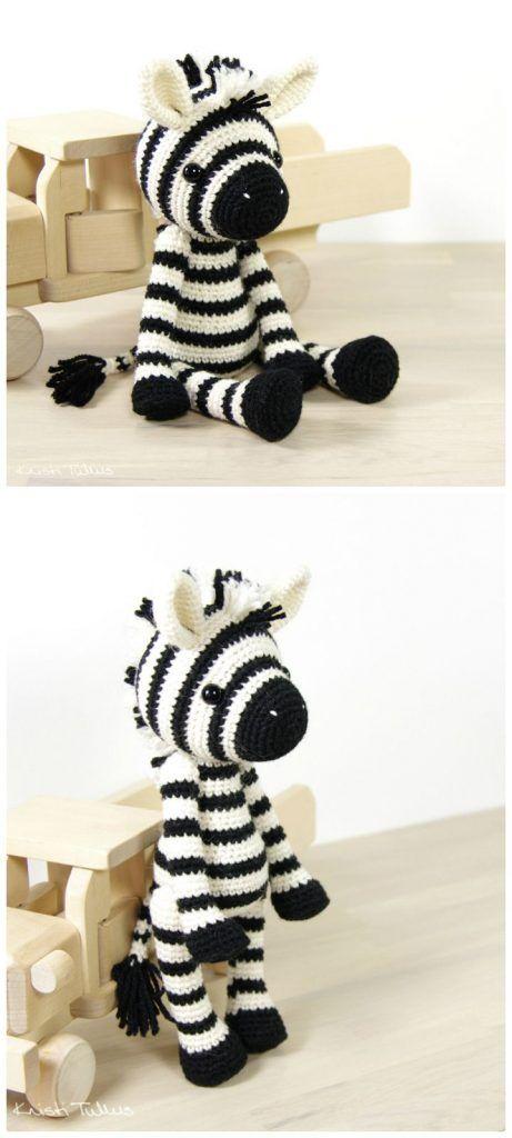 26 Free Crochet Zebra Patterns / Hat, Blanket, Amigurumi | Tejido ...
