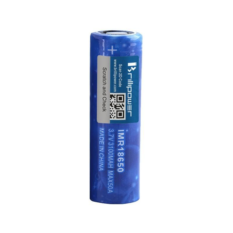 Brillipower 18650 Battery 3100mah Max50a Vape Batteries Vape Beverage Can