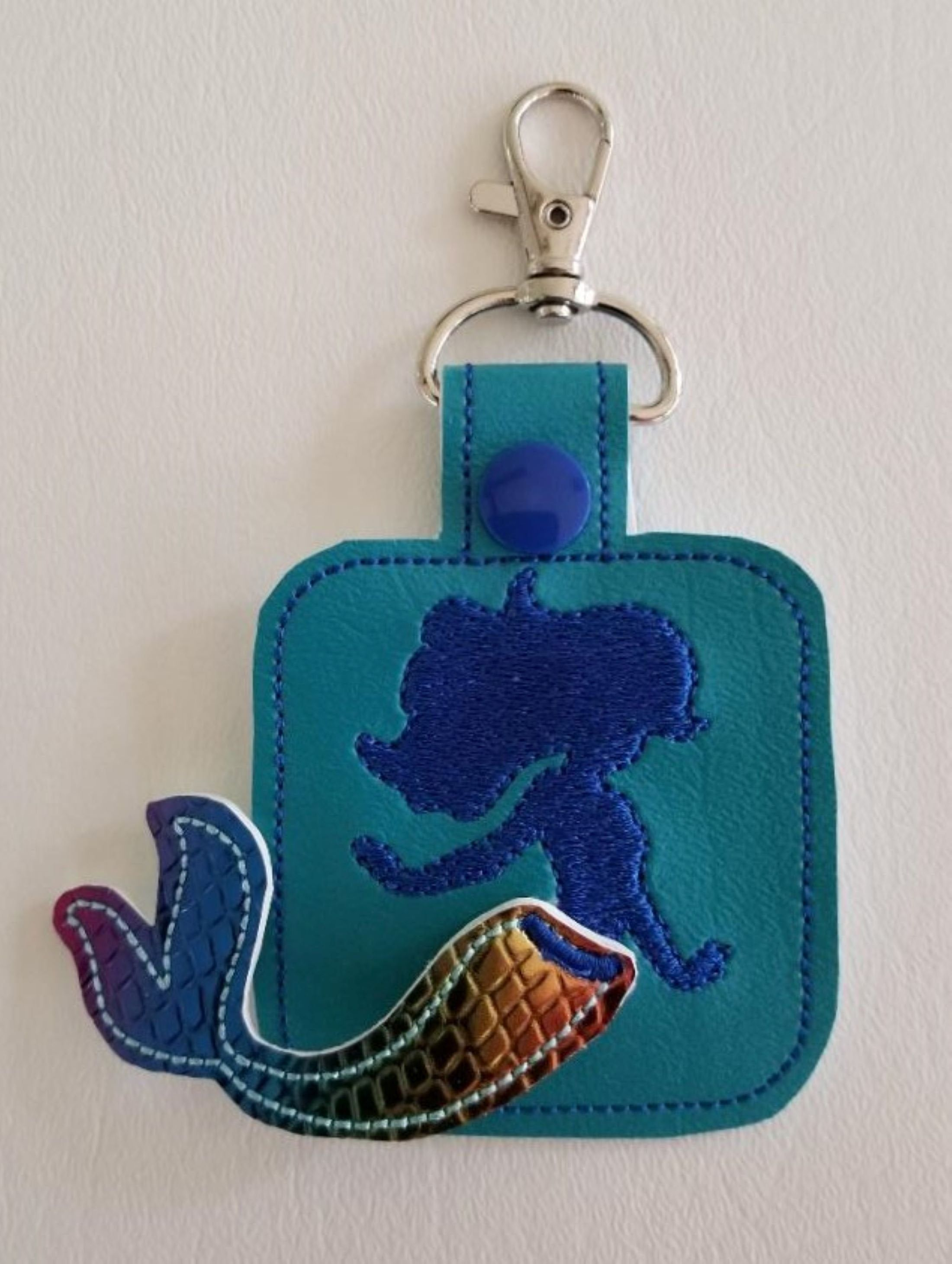 Mermaid Tail 3d Keychain Backpack Tag In 2019 Backpack Tags