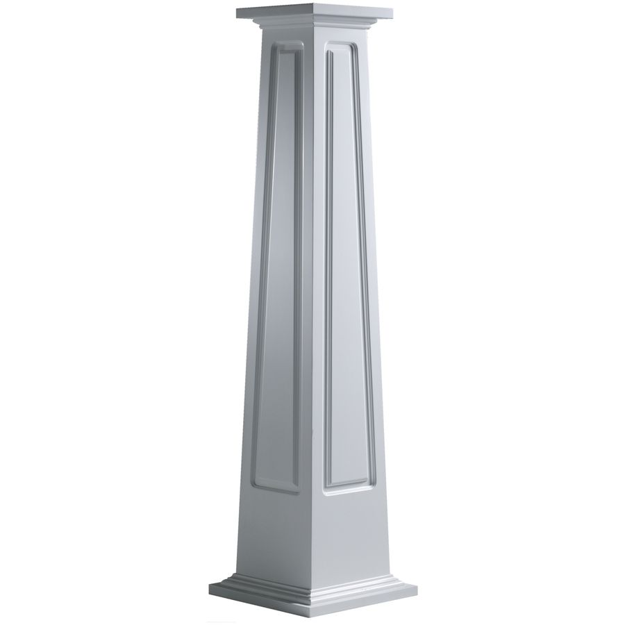 Craftsman Porch Columns Shop Turncraft 16 In X 4 Ft Pvc Craftsman Column At Lowes Com Craftsman Columns Pvc Column Wraps Column Wrap