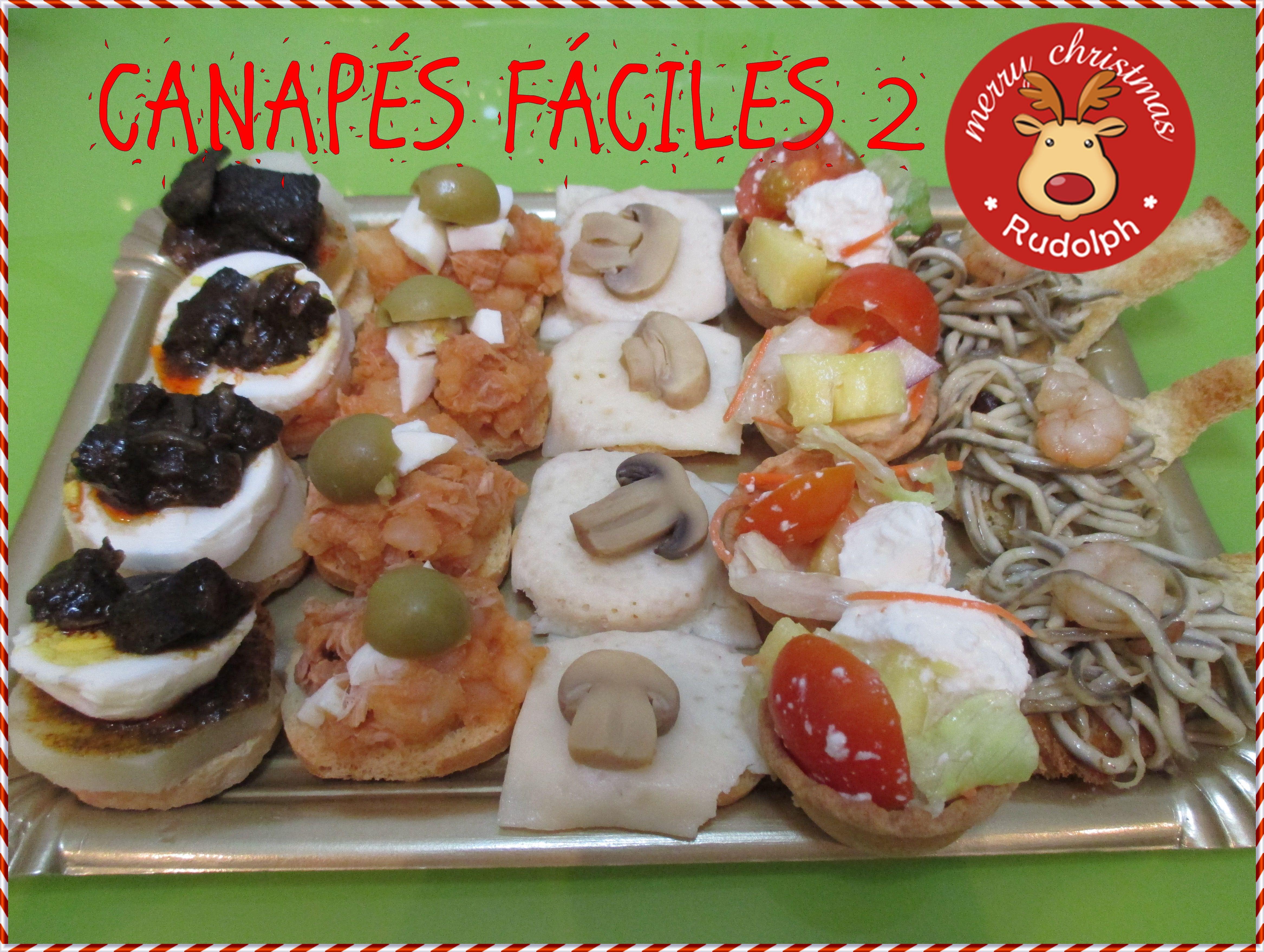 Canap s para fiestas canap s navidad christmas snacks for Canapes sencillos y rapidos