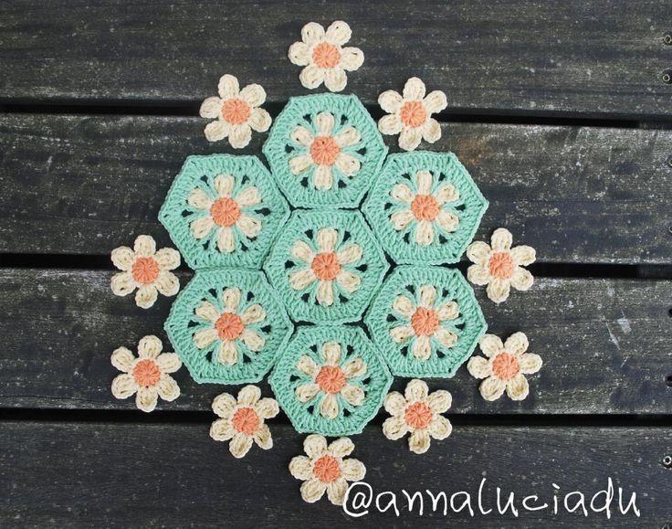 crochet hexagon blanket ile ilgili görsel sonucu | CROCHET HEXAGON ...