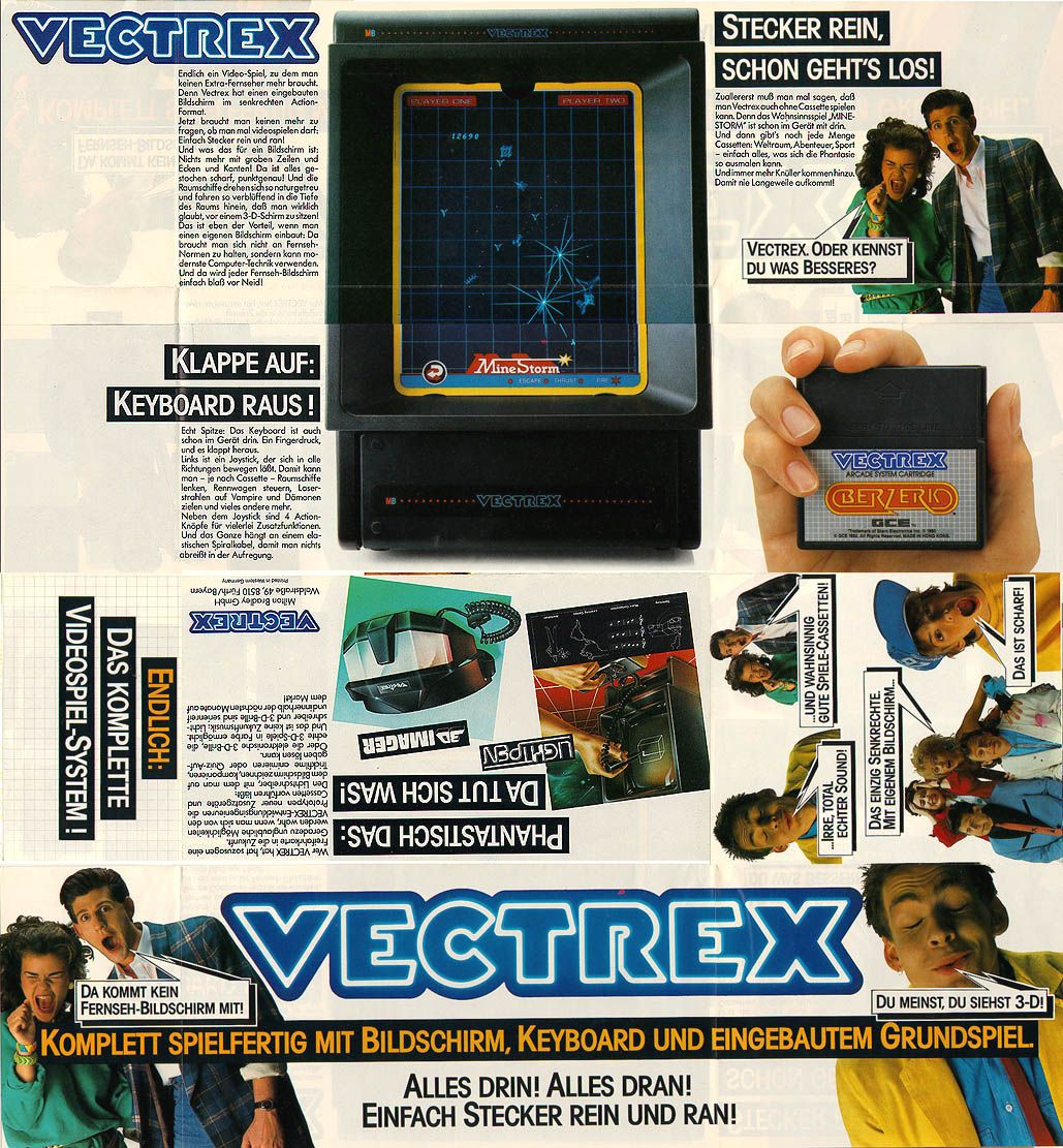 vectrex ad Video game devices, Vintage video games