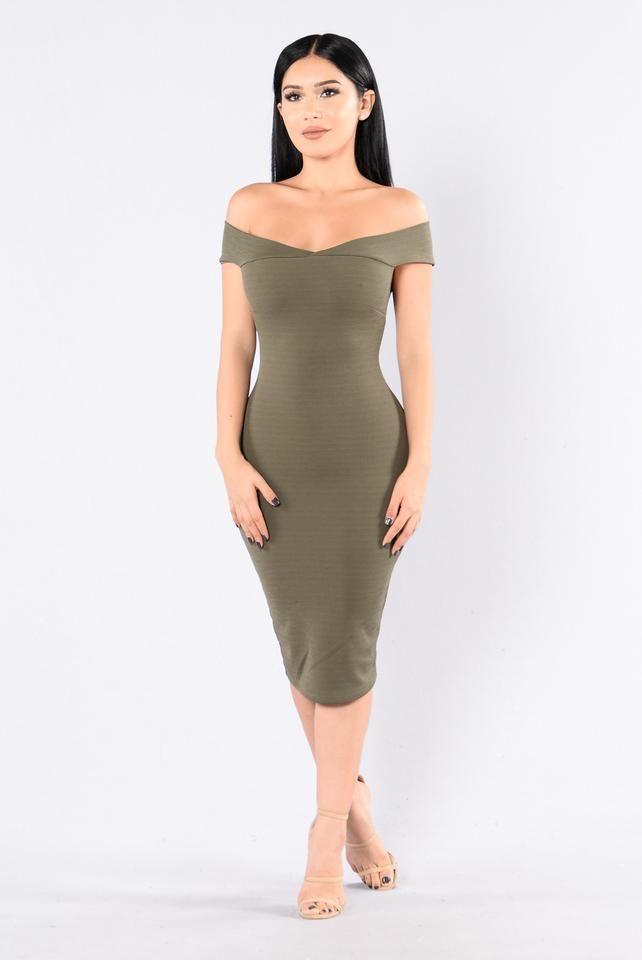 Dubai Dress - Light Olive