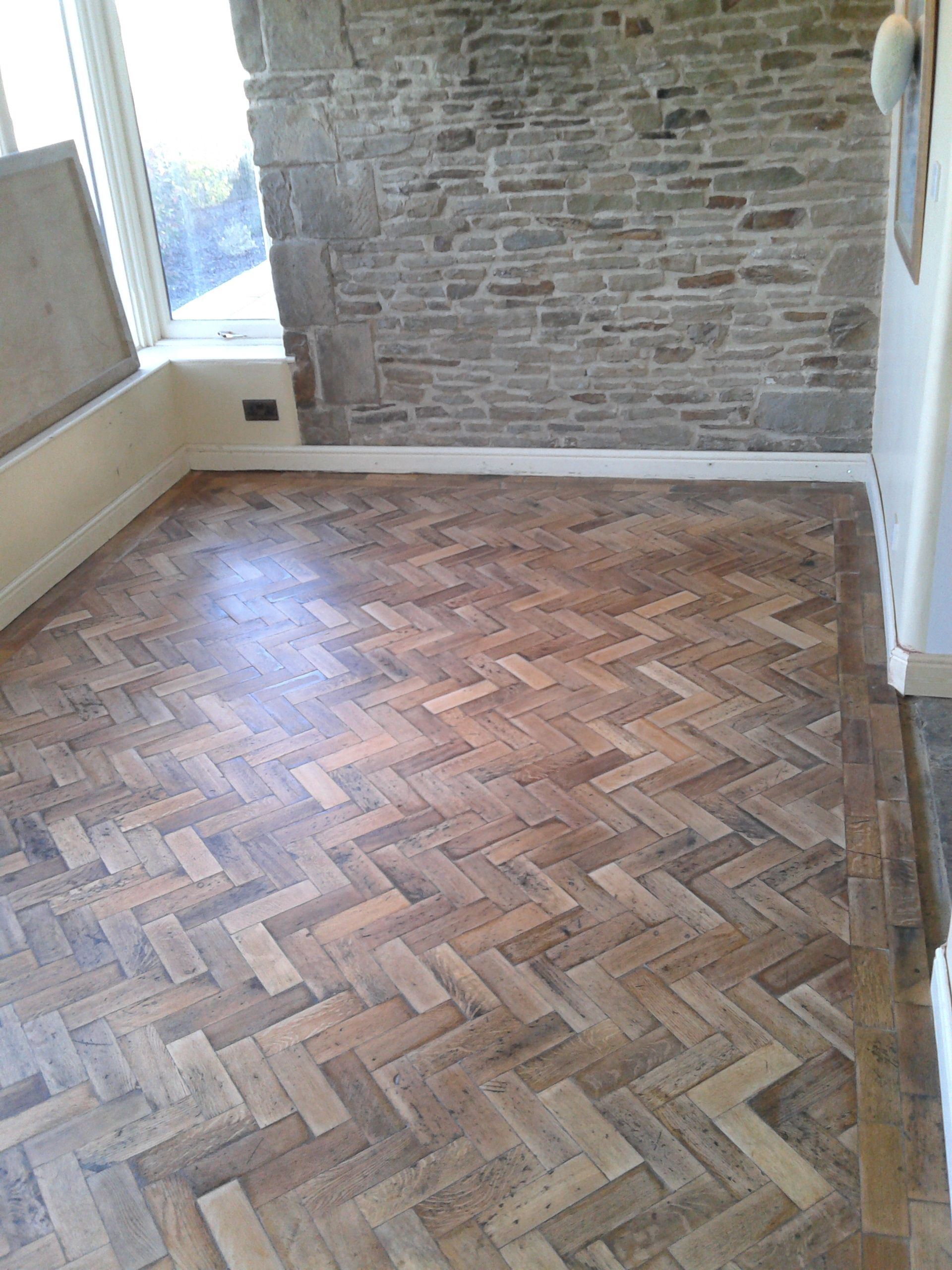 reclaimed oak parquet floor fitted by rawtimber