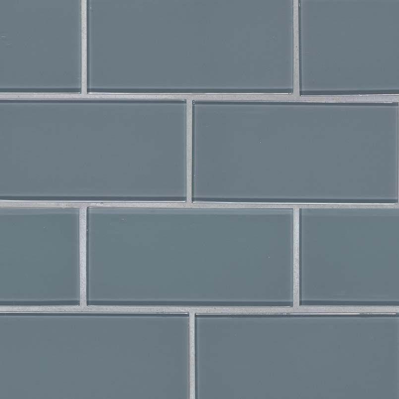 Harbor Gray Subway Tile 3x6x8mm Gl