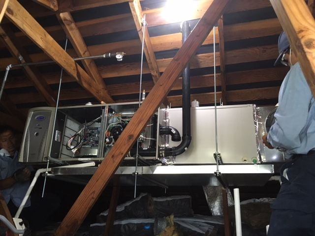 We Re Connecting All The Electrical To This Furnace It S On A Suspended Platform To Absorb Any Vibration Noise Looks Goo Furnace Repair Furnace Hvac Services
