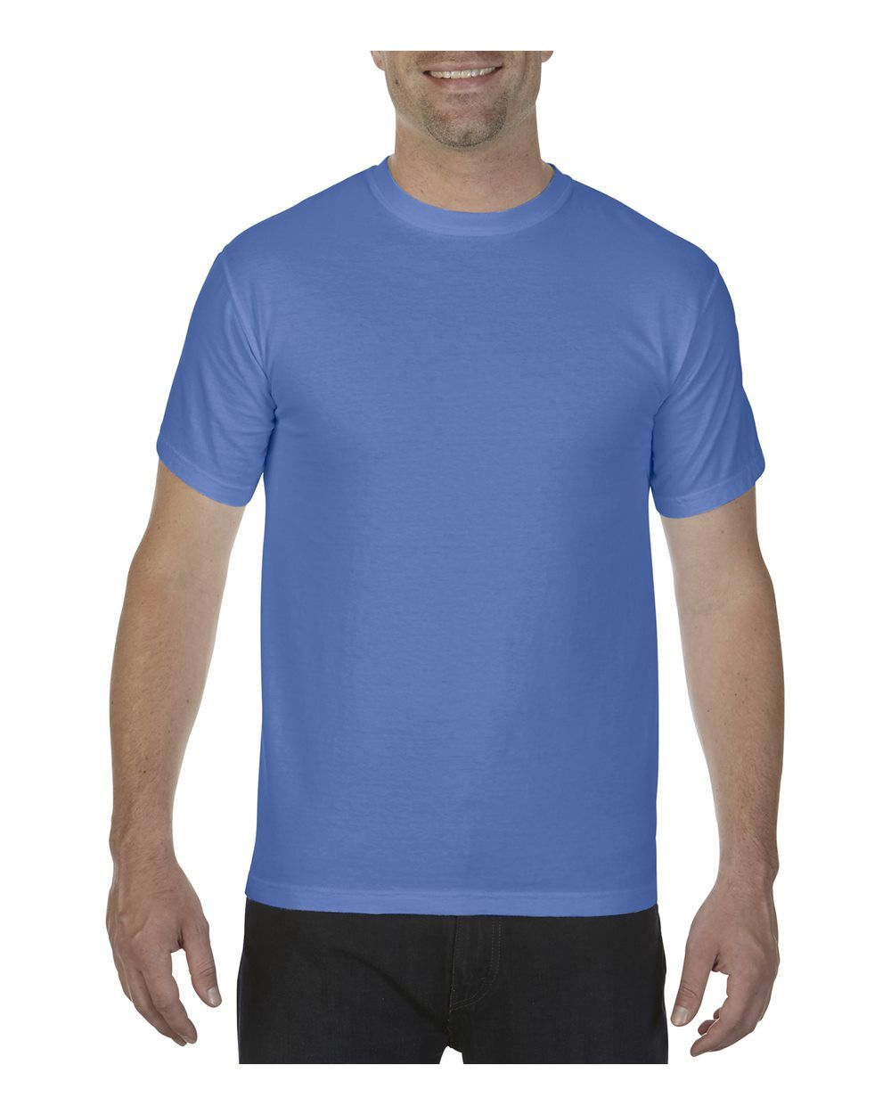 Comfort Colors - Garment-Dyed Heavyweight T-Shirt - 1717 | Clothing Shop Online | Comfort Colors - Garment-Dyed Heavyweight T-Shirt - 1717 - Neon Blue - 3X-Large