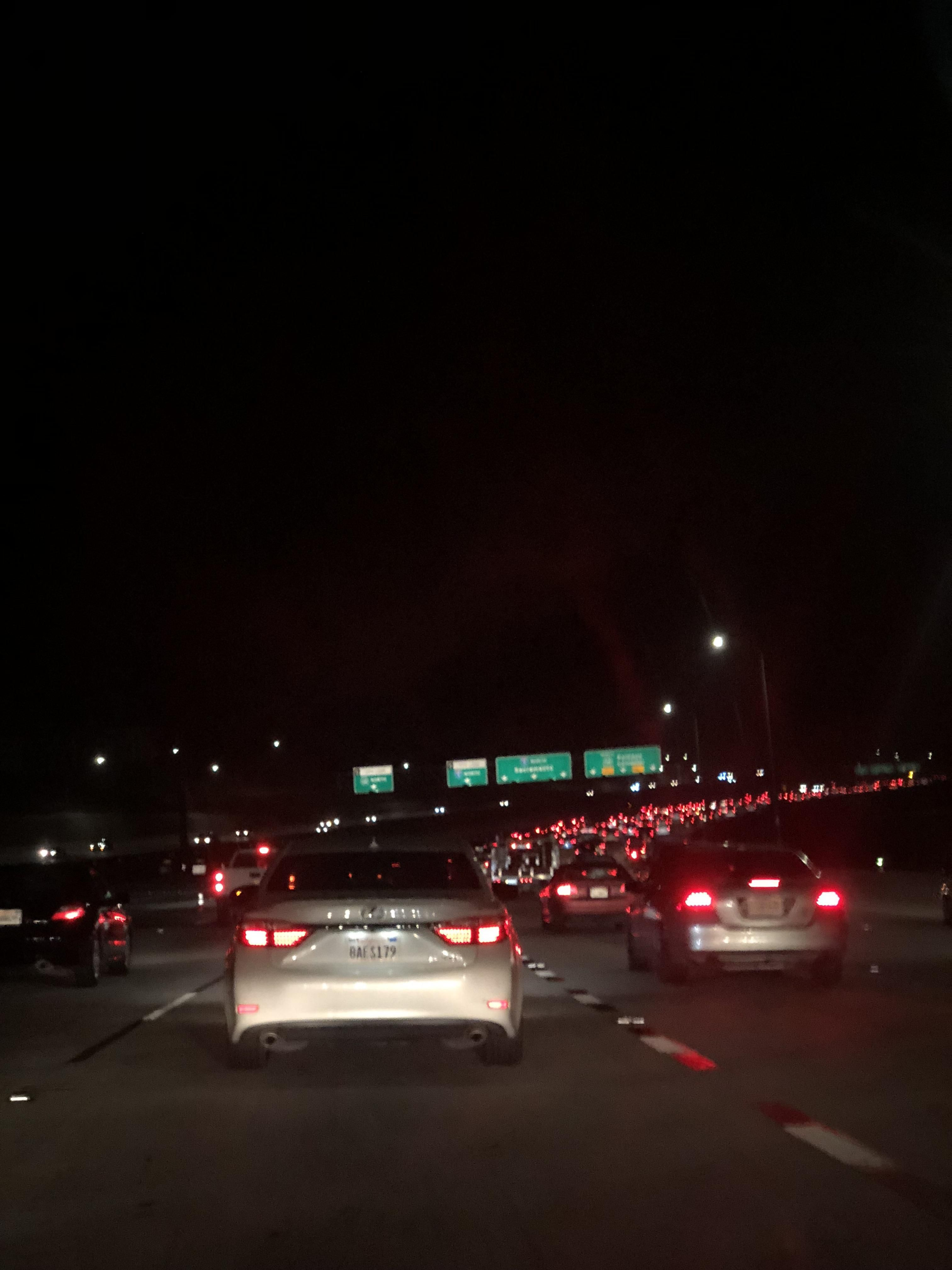 Late Night Traffic On The 5 North Near Santa Clarita Please Bring Food Truck Thanks Night Night Vibes Late Night Drives