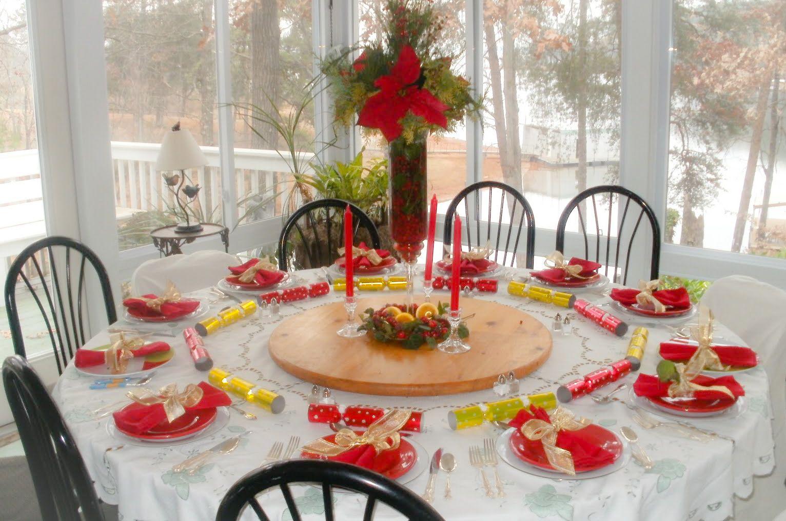 Increibles como decorar la mesa de navidad fotos - Como decorar la mesa de navidad ...