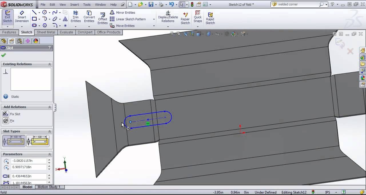 Solidworks Tutorial Folding And Unfolding Sheet Metal
