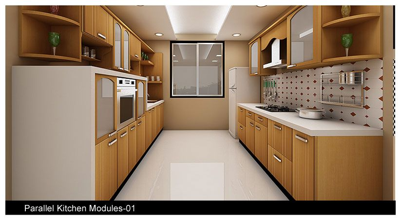 Parallel kitchen design india google search kitchen for Search kitchen designs