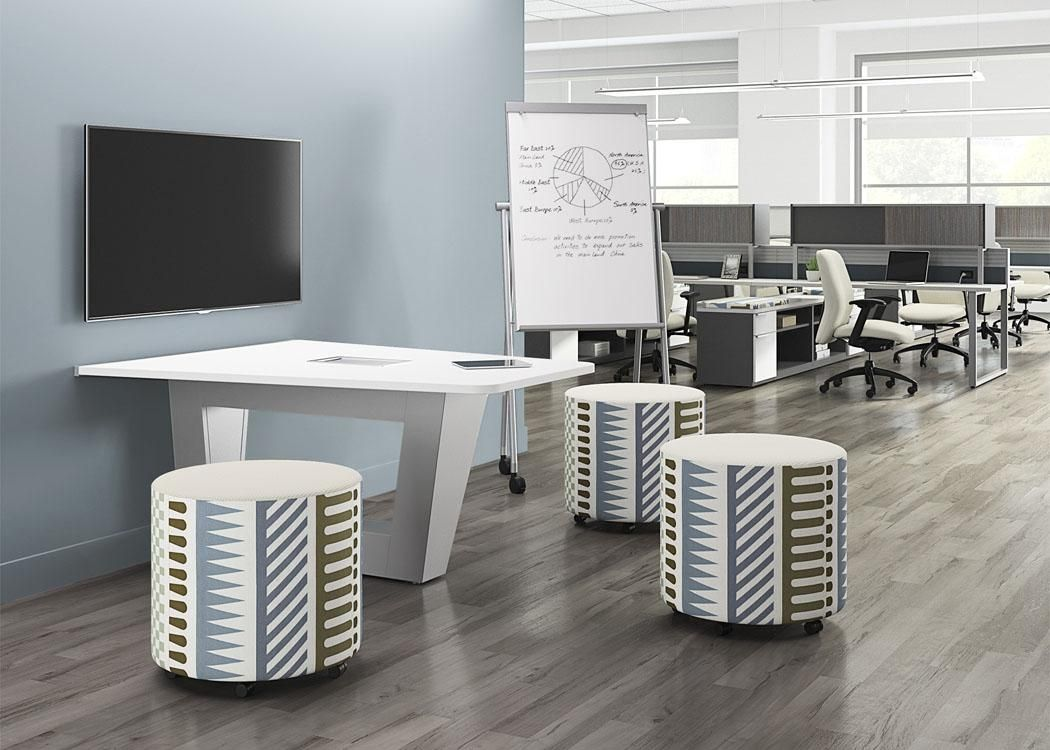 National Office Furniture Mio Exhibit Mount Whimsy Impromptu Seating Epic Casegoods Fuel And Universal Mobile Marker Board