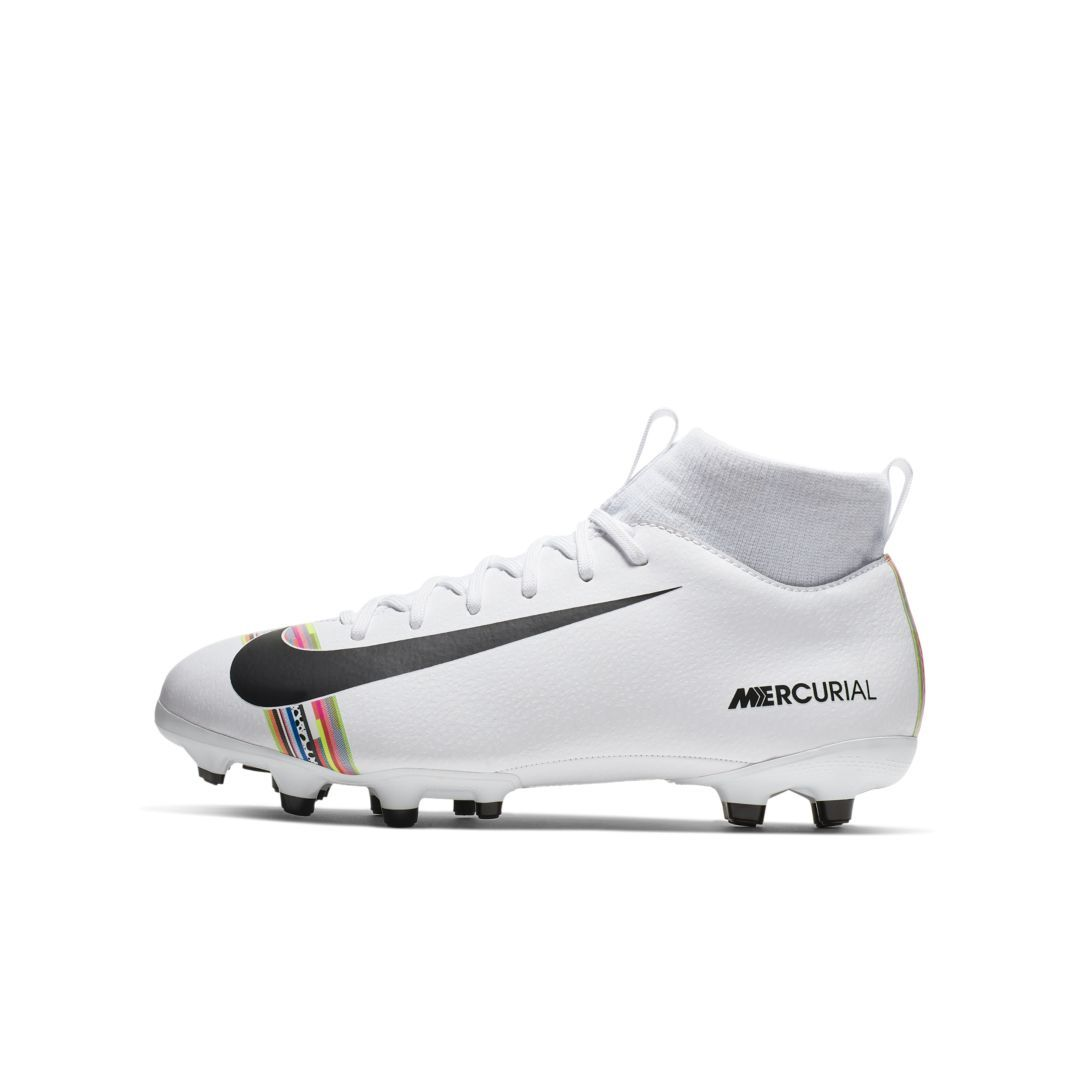 Nike Jr Superfly 6 Academy Mg Little Big Kids Multi Ground Soccer Cleat Size 5 5y White Soccer Cleats Nike Soccer Cleats Nike Cleats