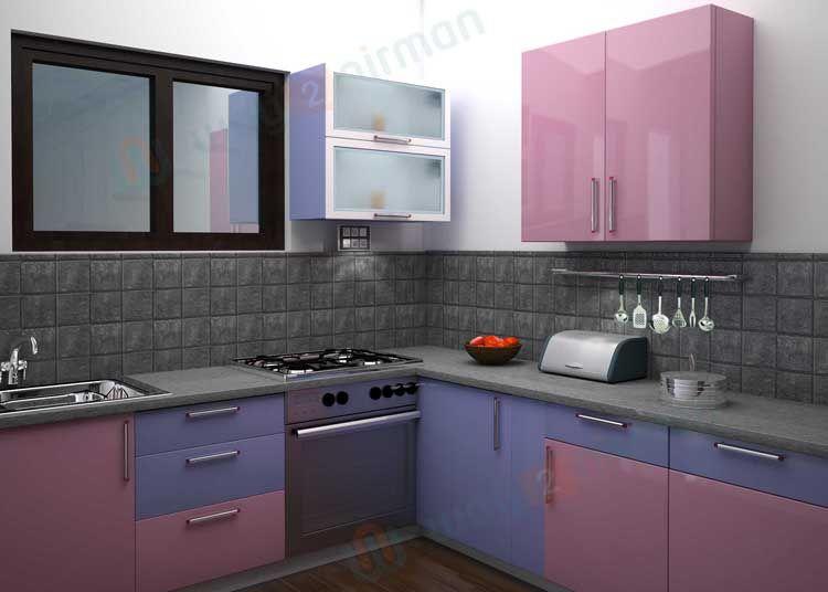 Simple # Kitchen # Interior # Design In Light Green Alluring Simple Interior Design Of Kitchen Decorating Inspiration