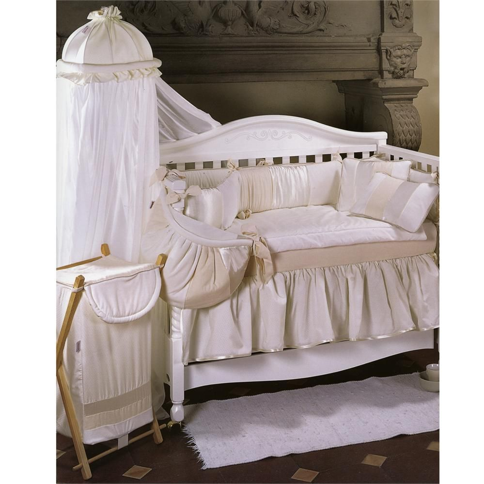 Neutral Baby Bedding On Debbie Crib Set