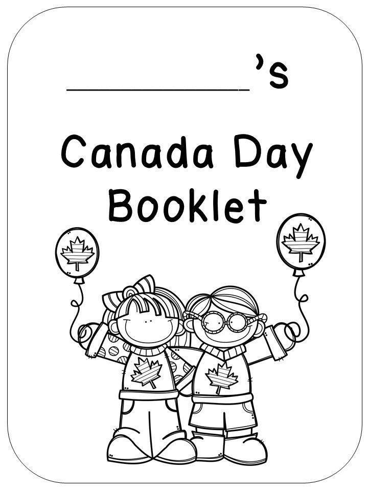 Canada day booklet for primary distance learning