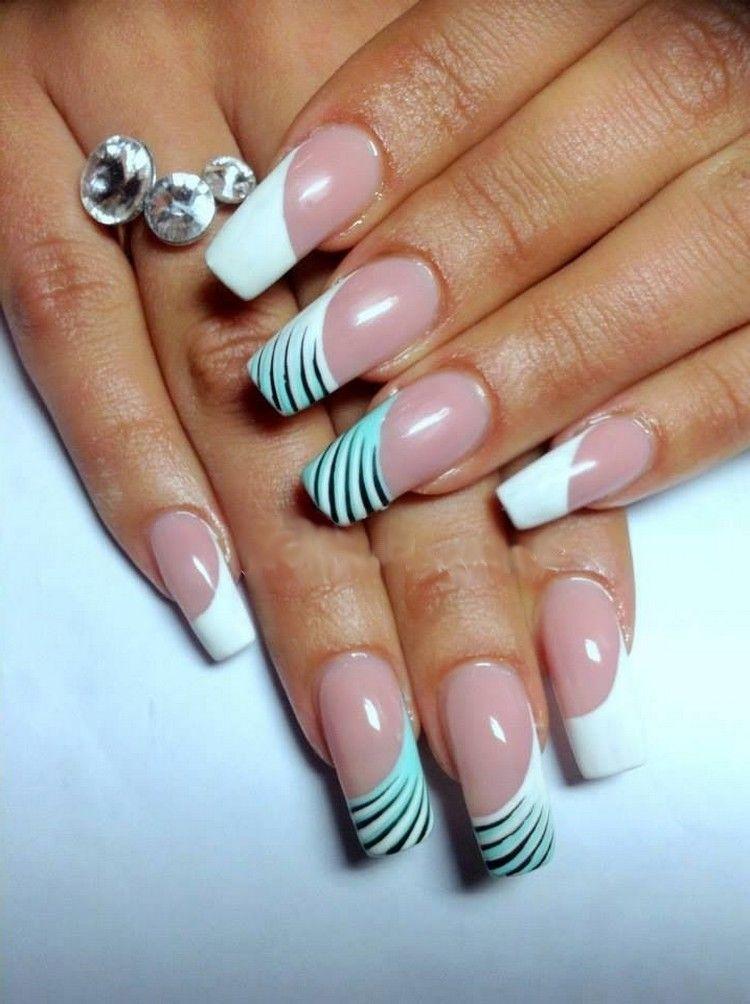 Diagonal Half and Half Nails - Diagonal Half And Half Nails Nail Art / Nail Care Tips Pinterest