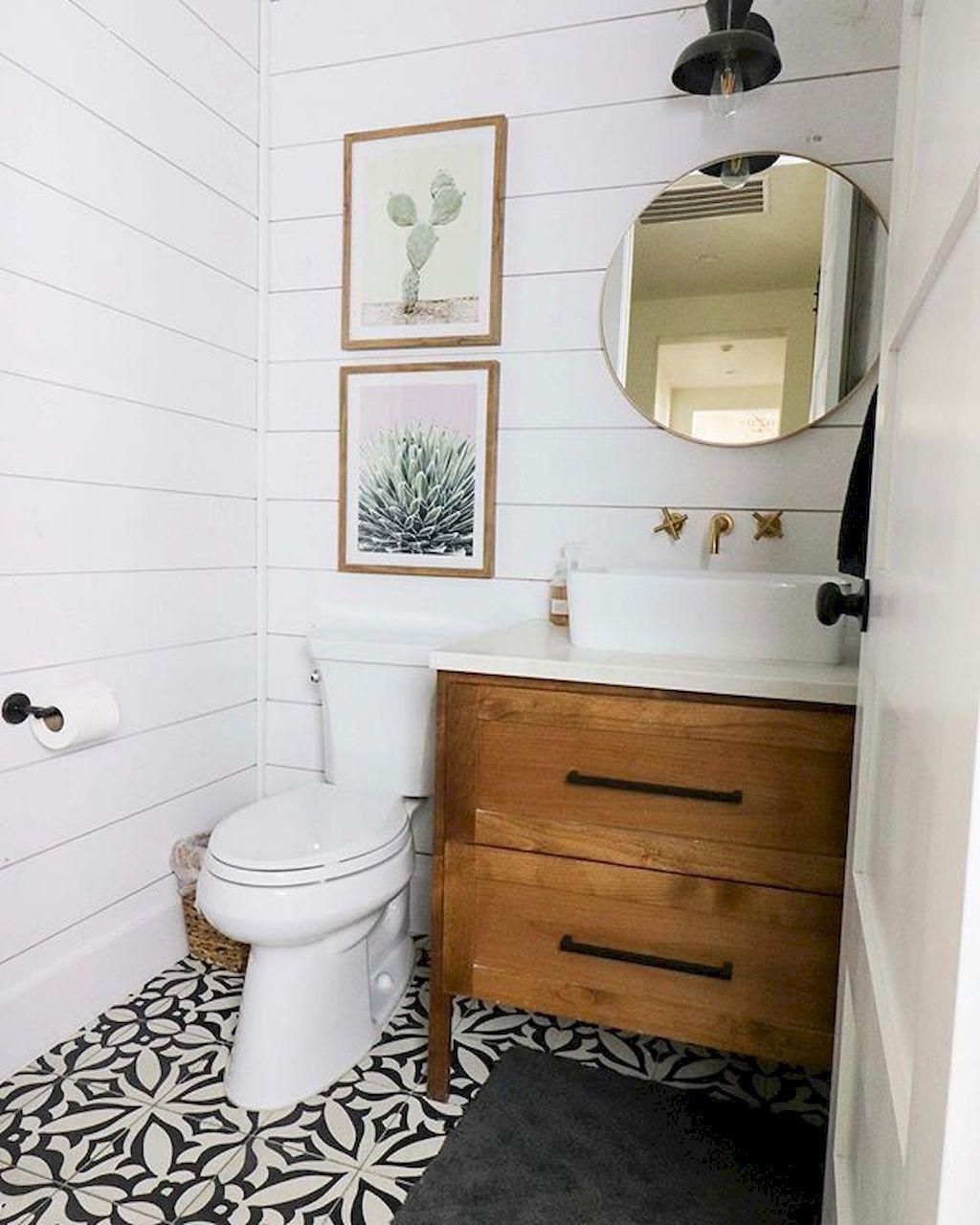75 Cool Farmhouse Bathroom Remodel Decor Ideas | Ideas de ...