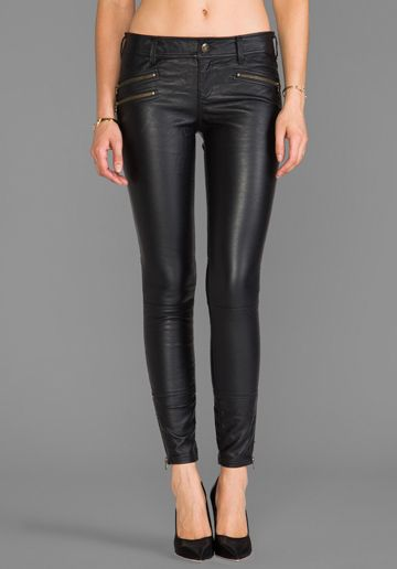 8944ee1ce6072 FREE PEOPLE Skinny Vegan Leather Pant in Black - Leather | What i'm ...
