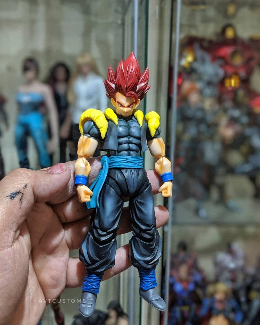 Custom Super Saiyan God Xeno Gogeta Super Saiyan God Dragon Ball Super Custom Action Figures