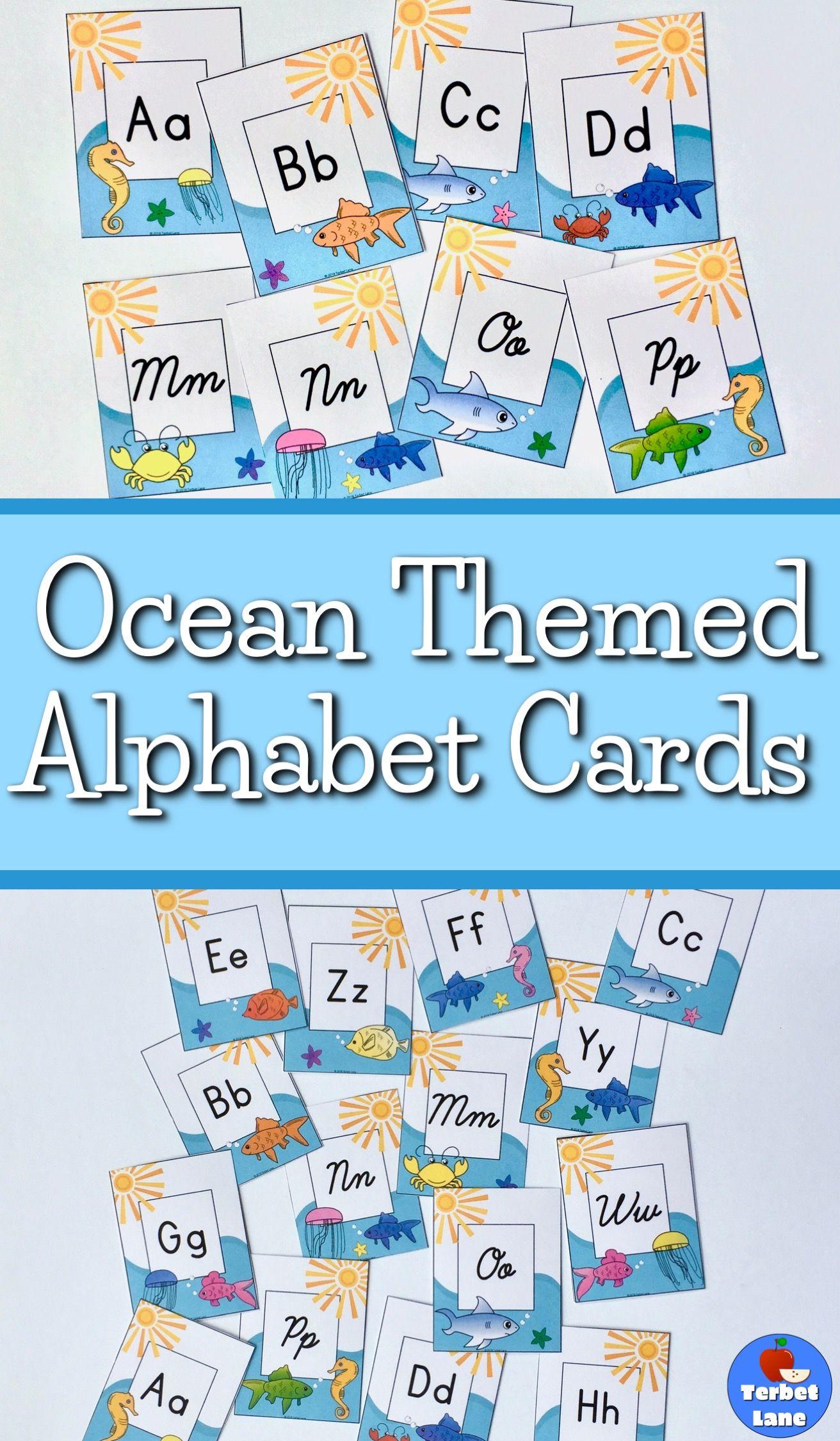 Ocean Themed Alphabet Letters For Walls