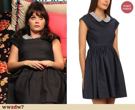 1c735bc0d09 Zooey Deschanel s Cream and black striped longsleeve top on New Girl ...