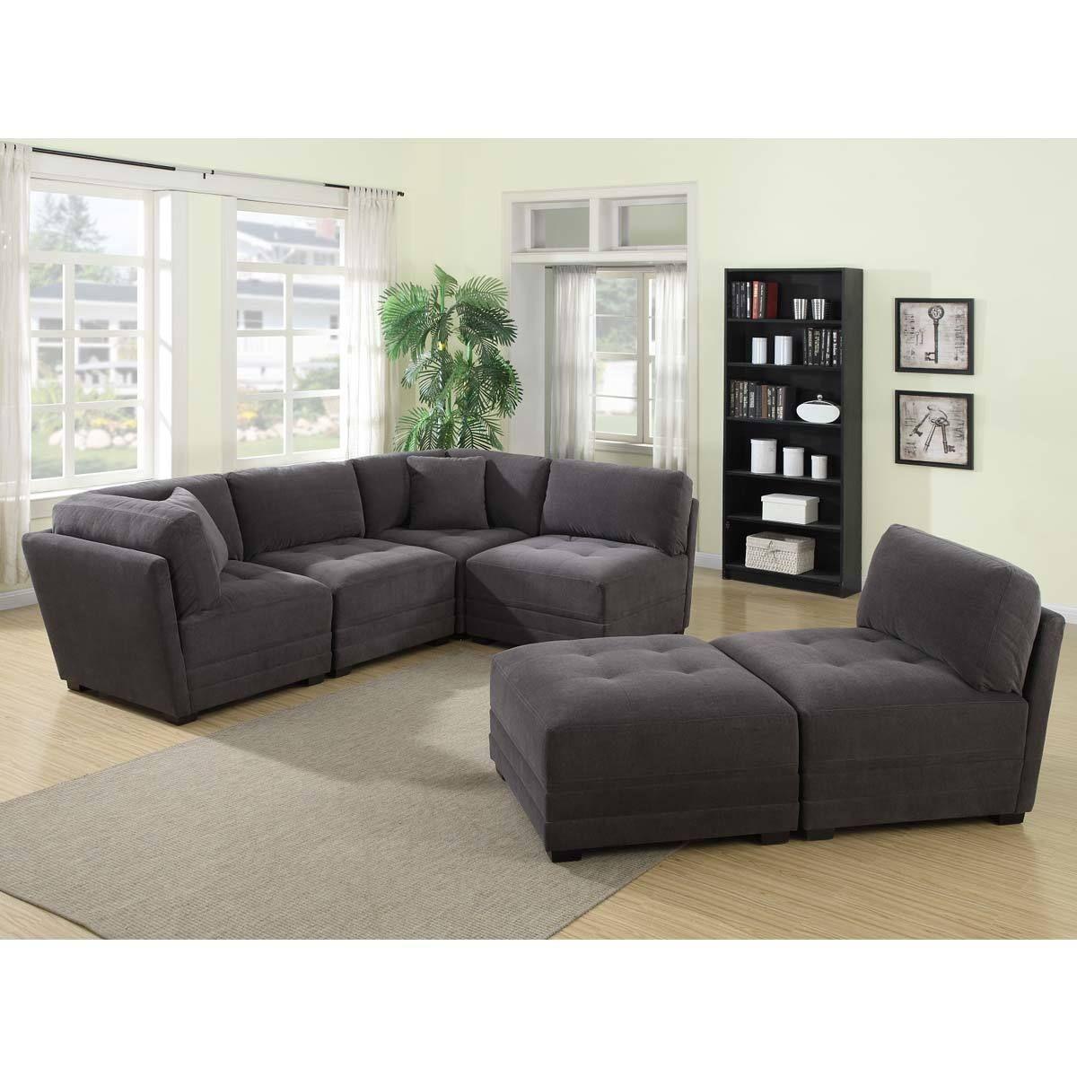 Mstar International Ethan 6 Piece Modular Fabric Sofa Sofa