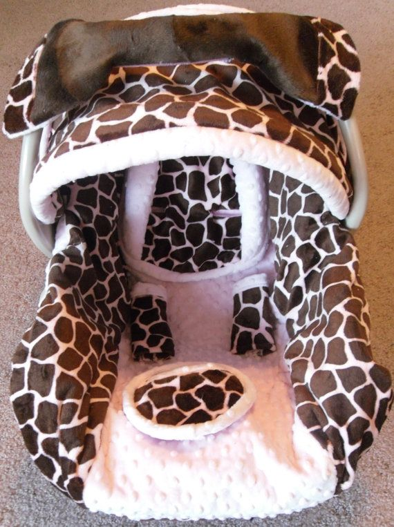 Pink Giraffe Car Seat Cover