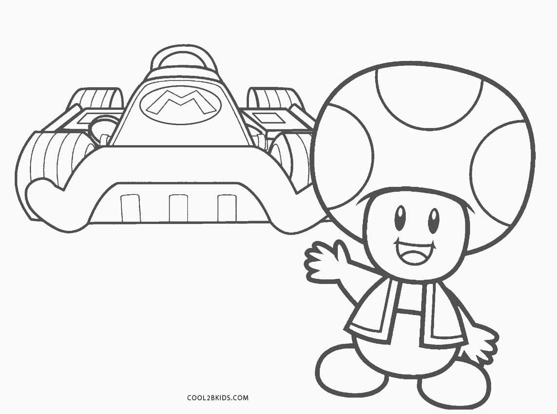 Mario Kart Coloring Pages Coloring Pages Printable Mario