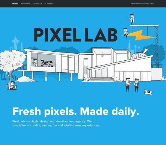 Very fresh single page design.
