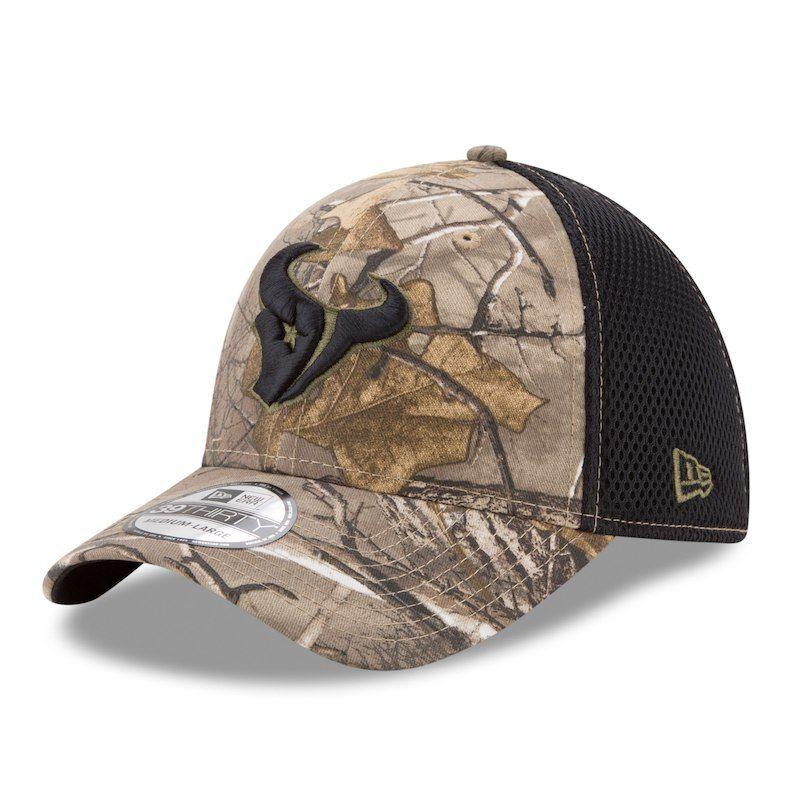 wholesale dealer e88c9 0730e Houston Texans New Era Neo 39THIRTY Flex Hat - Realtree Camo Black